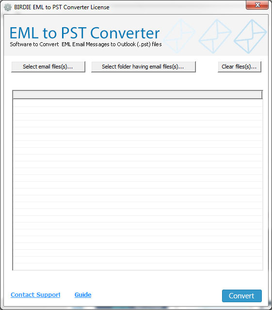 Click to view Windows Mail EML to PST Converter 5.8 screenshot